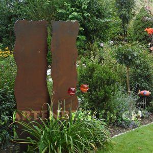 trennwand, windschutz, holzlager aus stahl, stahlholzlager ... - Gartengestaltung Sichtschutz Stahl